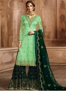 Green Embroidered Wedding Designer Pakistani Suit