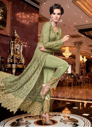 Green Embroidered Wedding Designer Salwar Kameez