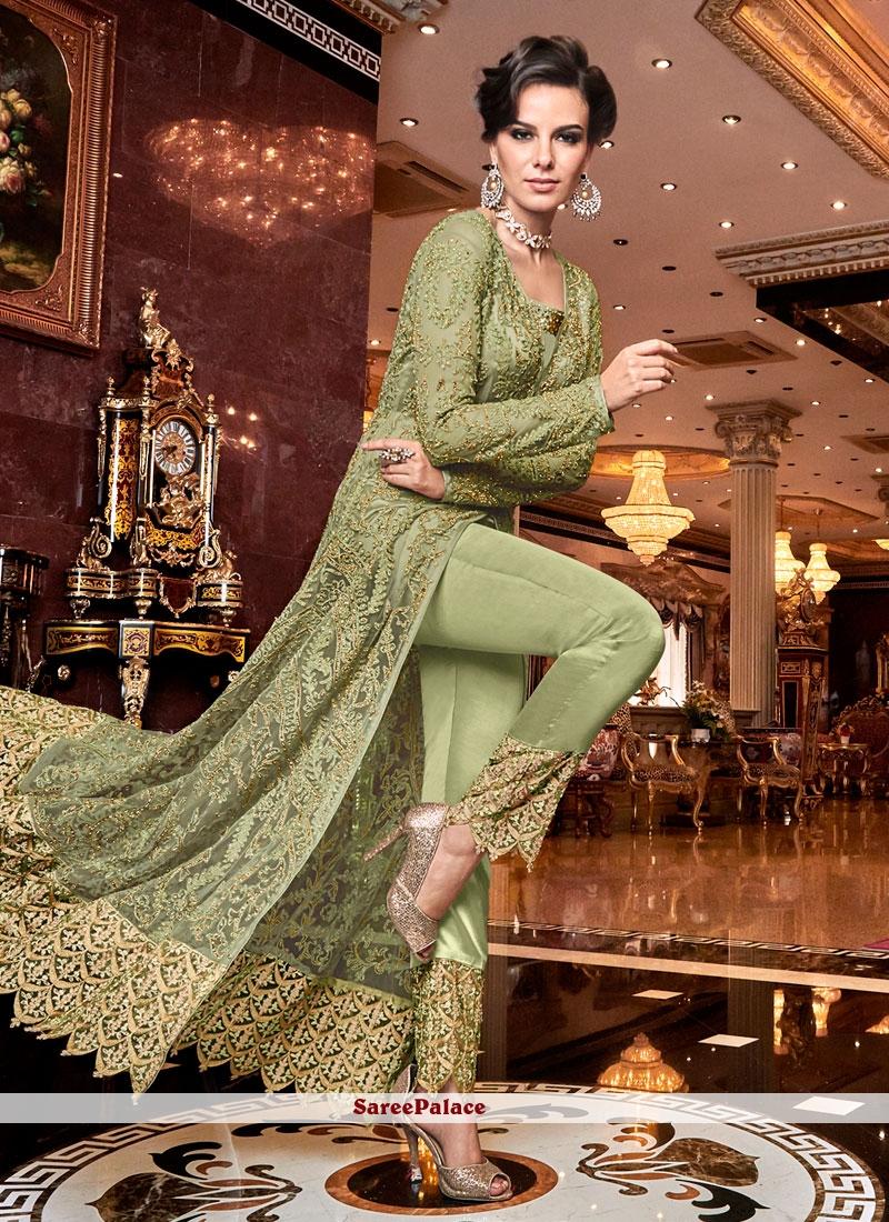 Green Embroidered Wedding Designer Salwar Kameez