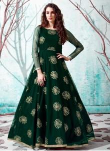 Green Fancy Designer Gown