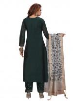 Green Fancy Designer Palazzo Suit
