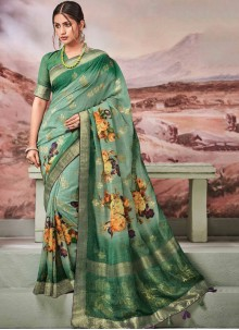 Green Fancy Designer Traditional Saree