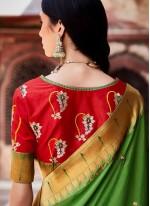 Green Fancy Fabric Designer Traditional Saree