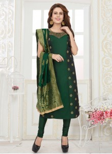 Green Fancy Readymade Suit