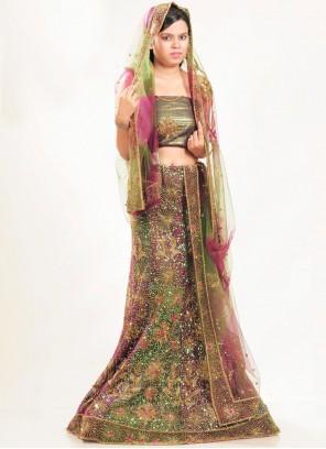 Green Fancy Wedding Lehenga Choli