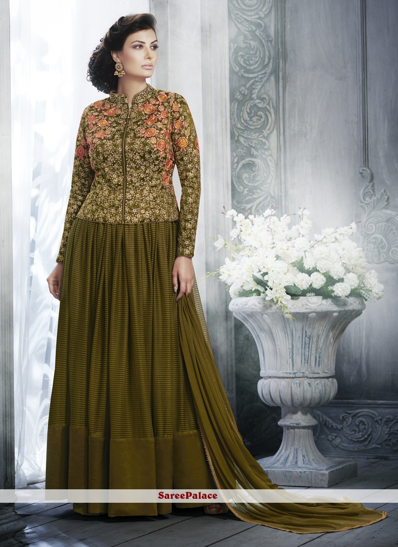 Green Festival Designer Salwar Kameez