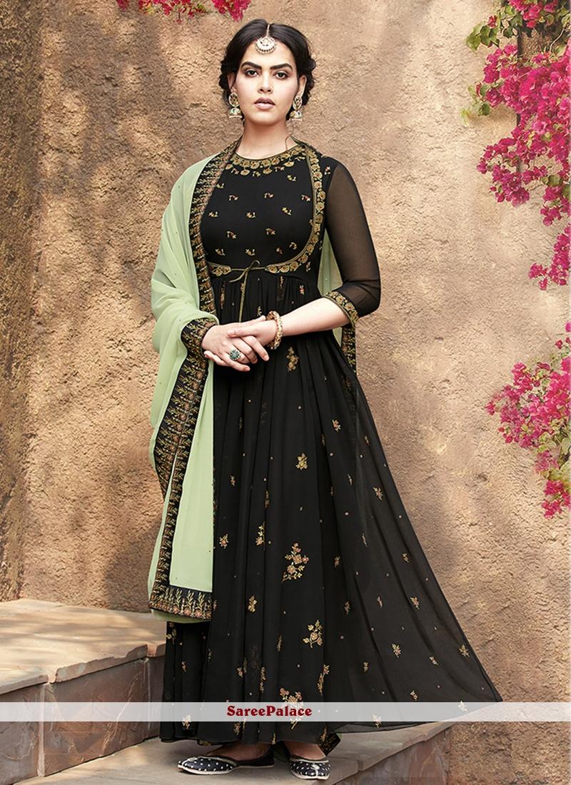 Green Festival Floor Length Anarkali Suit