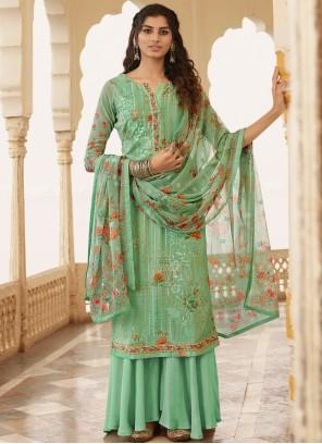Green Festival Georgette Bollywood Salwar Kameez