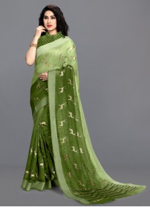 Green Festival Shaded Saree