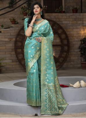 Green Festival Silk Saree