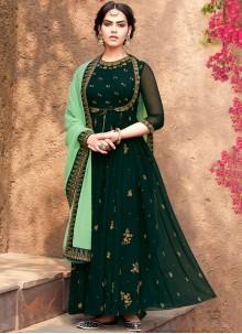 Green Georgette Salwar Suit