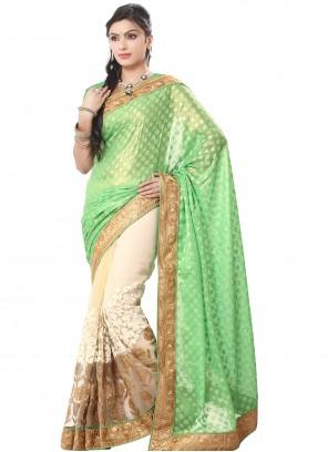 Green Georgette Trendy Saree