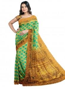 Green Handwork Sangeet Designer Saree