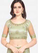 Green Mehndi Net Lehenga Choli