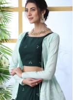 Green Muslin Embroidered Trendy Designer Lehenga Choli