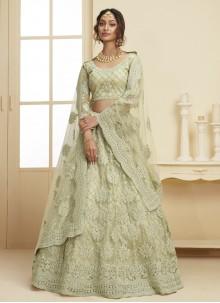 Green Net Lehenga Choli