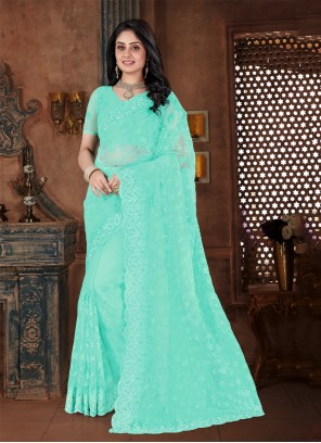 Green Net Trendy Saree