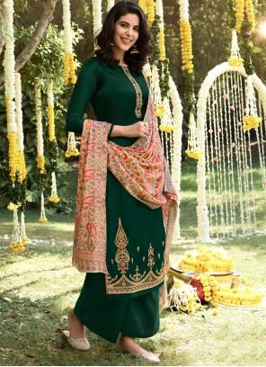 Green Palazzo Salwar Suit