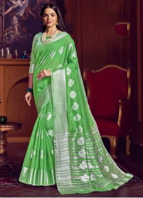 Green Party Bollywood Saree