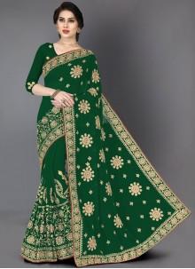 Green Party Designer Saree