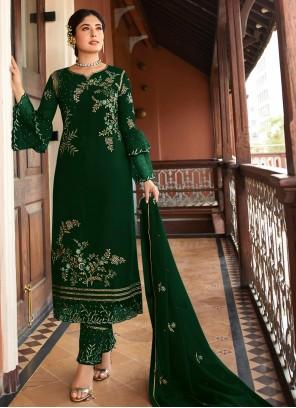 Green Party Georgette Salwar Kameez