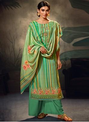 Green Party Salwar Suit