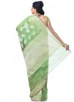 Green Reception Banarasi Silk Classic Designer Saree
