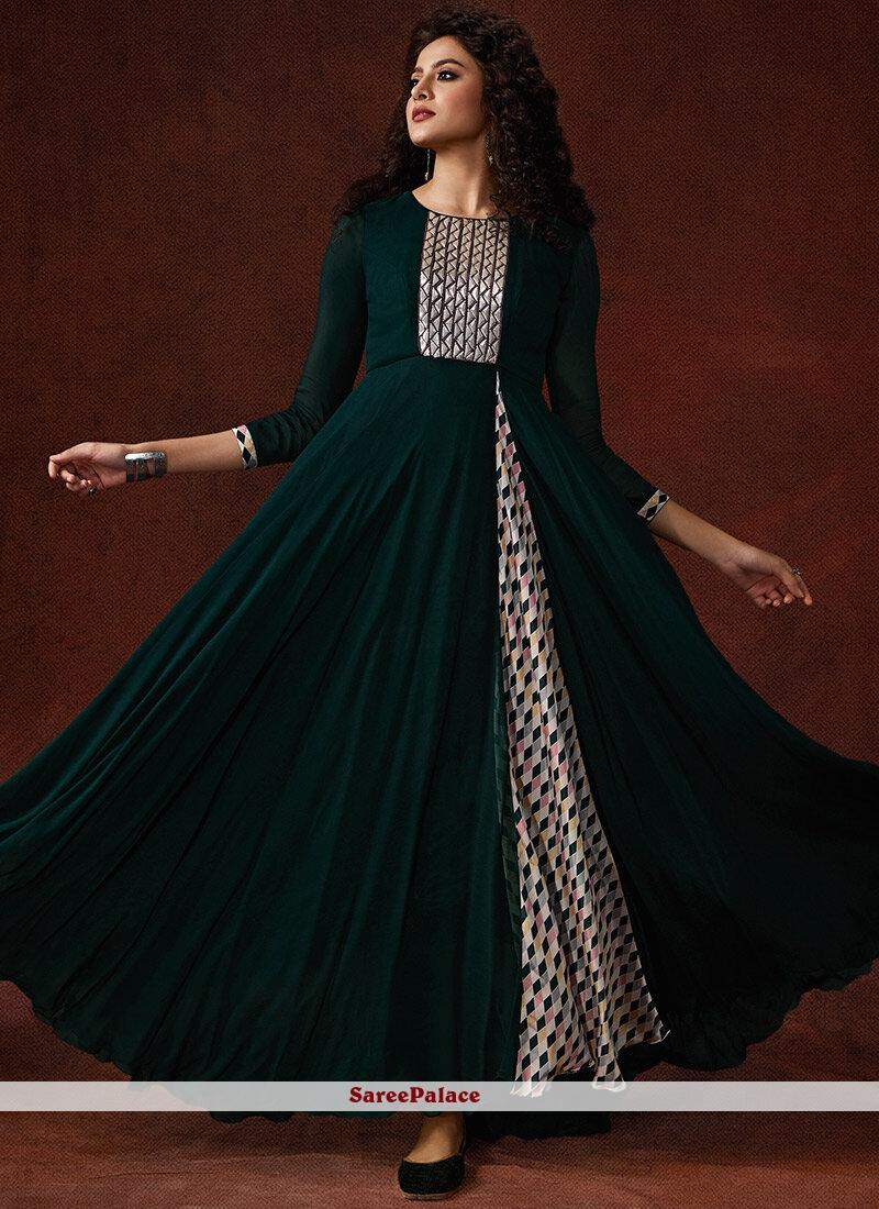 Green Reception Designer Gown