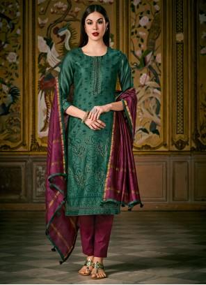 Green Reception Designer Salwar Suit
