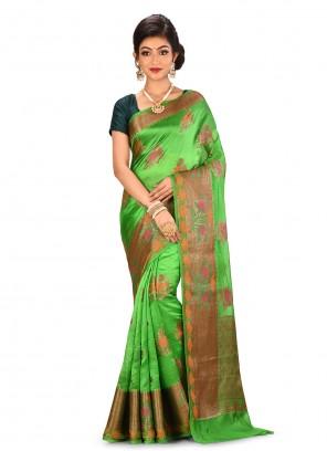 Green Reception Designer Saree