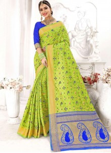 Green Reception Designer Traditional Saree