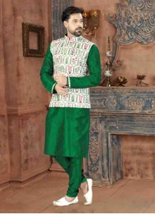 Green Reception Kurta Pyjama