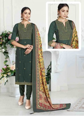 Green Reception Pant Style Suit