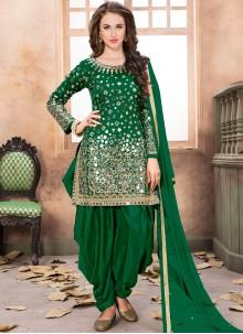 Green Reception Patiala Salwar Kameez
