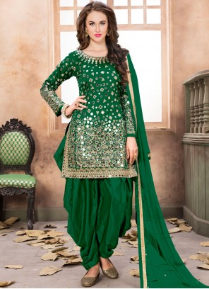 Green Reception Patiala Salwar Kameez