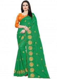 Green Reception Traditional Saree
