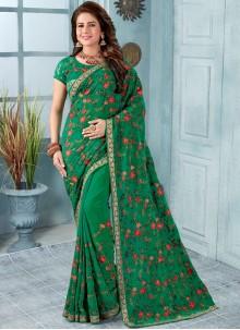 Green Reception Trendy Saree