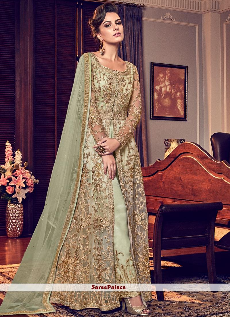 Green Resham Designer Salwar Kameez