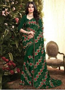 Green Resham Designer Saree