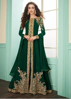 Green Resham Salwar Suit