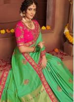 Green Resham Silk Classic Saree