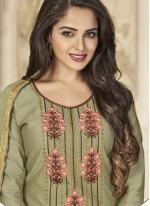 Green Resham Work Designer Patiala Suit