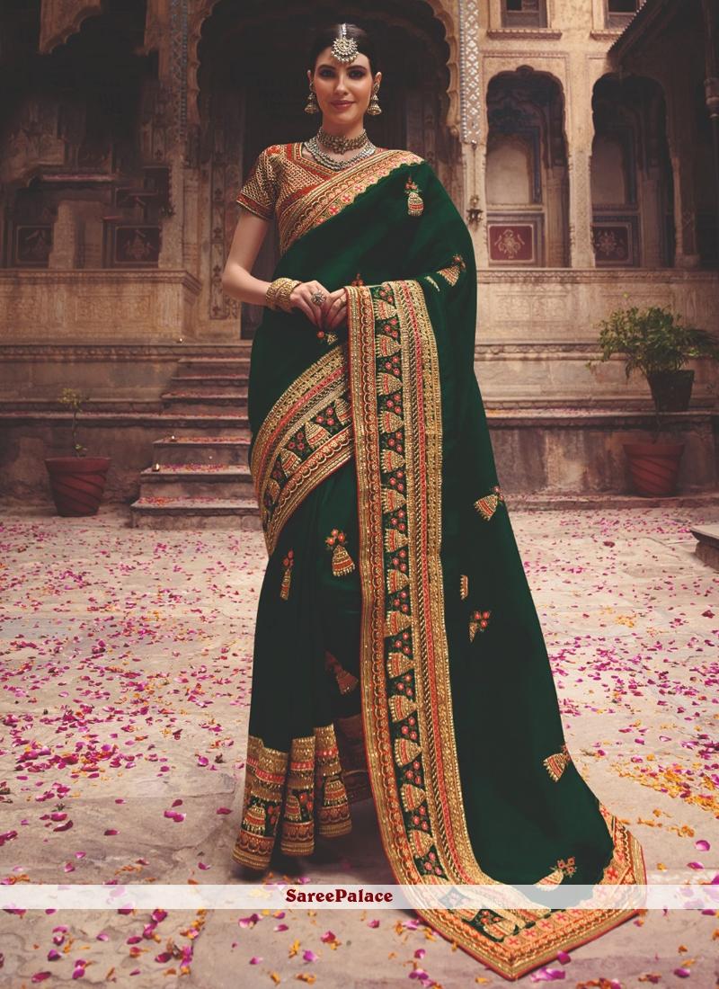 Green Sangeet Classic Saree