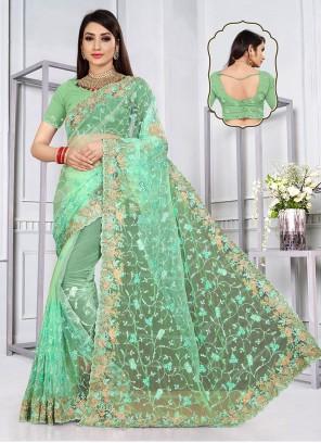 Green Sangeet Designer Saree