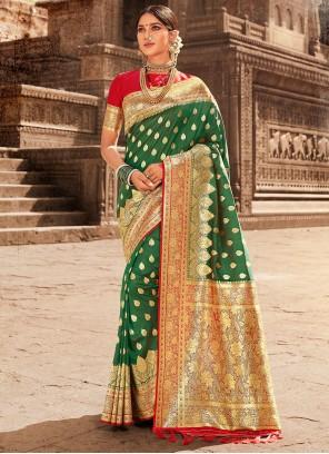 Green Sangeet Designer Traditional Saree