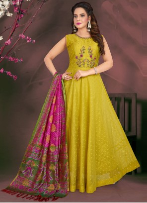 Green Sangeet Readymade Suit