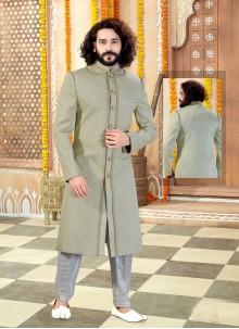Green Sangeet Sherwani