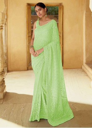 Green Sangeet Trendy Saree
