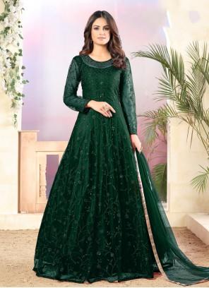 Green Sequins Ceremonial Trendy Salwar Suit