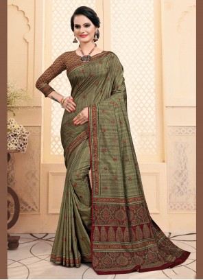 Green Silk Bollywood Saree